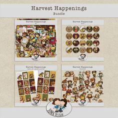 SoMa Design: Harvest Happenings - Bundle Happenings, Digital Scrapbooking, Harvest, Kit, Shit Happens, Holiday Decor, Design, Events
