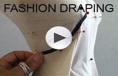 Online fashion training a learning environment that reflects design education through the fashion industry with life-long learning skills in patternmaking, draping & sewing. Pattern Draping, Corset Pattern, Dress Patterns, Sewing Patterns, Fabric Manipulation, Diy Clothes, Sketching, Pattern Design, Diy And Crafts