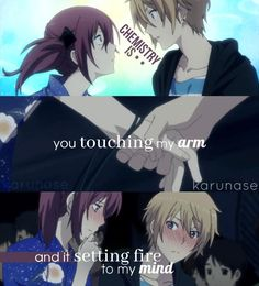 """""""Chemistry is you touching my arm and it setting fire to my mind.."""" 