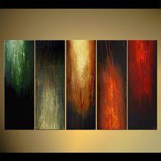 PINTURA a medida - Original contemporáneo Modern Abstract Painting by Osnat. Como este es un cuadro hecho por encargo, se será lo más cerca posible a la que ves aquí, que ya han vendido. Marco de tiempo para crear: 4-5 días laborales. Nombre de la pintura: Fuego dentro Tamaño: 60 x