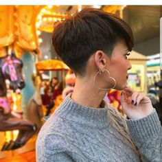 "6,776 Likes, 41 Comments - ShortHair  PixieCut  Fashion (@nothingbutpixies) on Instagram: ""Some times you gotta have Heart  But can be an earring like @inmadelope"""