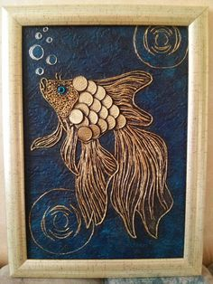 1 million+ Stunning Free Images to Use Anywhere Coin Crafts, Glue Art, Coin Art, Deco Originale, Button Art, Fish Art, Mural Art, Diy Arts And Crafts, String Art