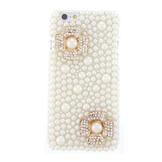 CaseBee® Luxury Series - Elegant Pearls of Extravagance iPhone 6 (4.7) Case - Handmade Bling Bling Rhinestones - Perfect Gift (Package includes Extra Crystals & Screen Protector)