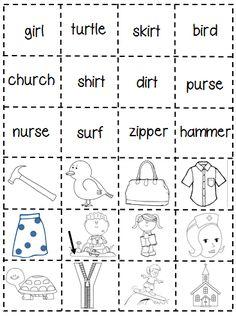 First Grade Shenanigans: Work Work Freebie (er, ir, ur)