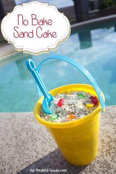 No Bake Sand Cake- Great Summer Dessert! The Hankful House – Recipe Diet Easy Summer Desserts, Summer Treats, Summer Recipes, Delicious Desserts, Dessert Recipes, Yummy Food, Yummy Eats, Sand Cake, Kids Meals