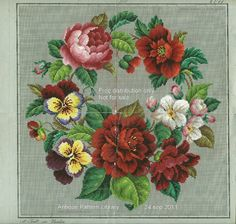 Antique needlepoint pattern from this site with thousands of antique needlework patterns SAVED