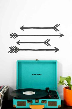 Arrow Wall Decal - Set Of 4  can make from electric tape