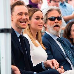 Tom Hiddleston, Brie Larson and Jeff Bridges attend the star unveiling ceremony for actor John Goodman on the Hollywood Walk of Fame on March 10, 2017, in Hollywood. Via Torrilla. Higher resolution image: http://ww4.sinaimg.cn/large/6e14d388gy1fdimoo2882j22te204ni6.jpg