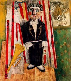 Carlo Carrà (1881 - 1966) pintor italiano del movimiento futurista junto con Marinetti. - Ritratto di Papini