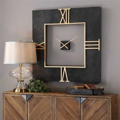 """at 40 """" square this fabulous clock is a popular release from the Uttermost Co. On Sale At Clocks Around The World"""