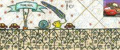 Debra Valoff envelope / Rubbermoon stamps