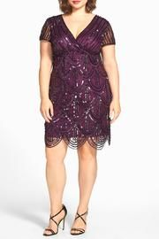 Plum Sequin Cocktail-Dress