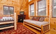 Upstairs East Master bedroom with queen bed and twin daybed