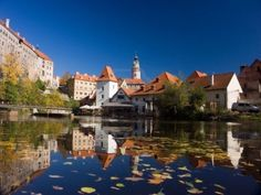 cesky krumlov czech republic - bumping into friends and river rafting