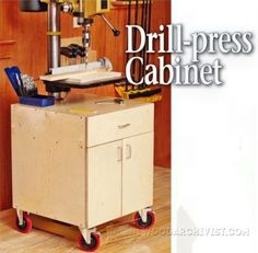 1456 Drill Press Stand Plan - Drill Press Tips, Jigs and Fixtures ...