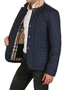 Burberry men's quilted blazer, is the perfect gift- it can be dressed up or dressed down. We here at S&P LOVE the quilted look!