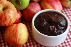 Slow Cooker Crockpot Apple Butter by daringourmet:  The slow and gentle cooking process ensures a deeply rich caramelized flavor, consistency, and color. #Apple_Butter #Crockpot