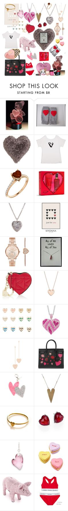 """""""Valentine's gifts any girl would love!"""" by breakfastatiffanies22 ❤ liked on Polyvore featuring Nourison, Vera Bradley, Victoria's Secret, Kiyonna, Michael Kors, Karl Lagerfeld, Ginette NY, Cloverpost, Yves Saint Laurent and Edie Parker"""
