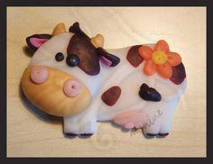 mucca in cernit