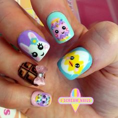Adorable Easter nails! OMG cutest things ever!! #nailart #nailartmelbourne #melbourne - iscreamnails @ Instagram Web Interface - 5th village...