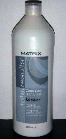 Amazon.com: Matrix Total Results Color Care So Silver Shampoo For Blonde/Silver/White Hair (33.8 oz.): Beauty