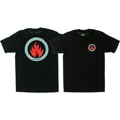 bfec6bb47f71a6 Black Label Skateboards Circle Flame Black T-Shirt - Medium