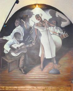 Mural done at Jazz Rock Cafe.
