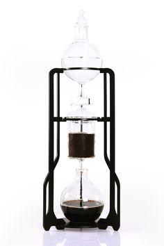 "Dutch Labs ""Modern Boy"" aluminium and borosilicate glass pour-over coffee maker"
