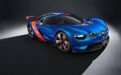 Blue renault alpine a110 50