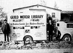 The Guild Motor Library, a for-profit bookmobile service that ran in Los Angeles in the 1930s.