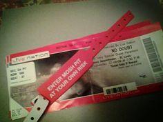 @KimNxD Ticket Stubs, Concert Tickets, Paramore