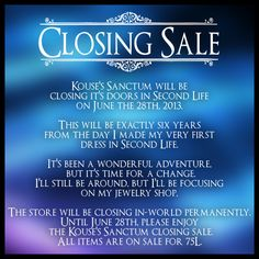 Kouses Sanctum ~ Closing Sale | Flickr - Photo Sharing!