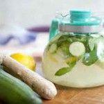 Água de limão com pepino e gengibre reduz peso e barriga em poucos dias
