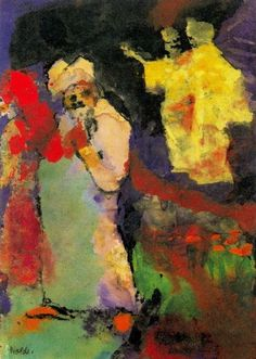 Emil Nolde - Two Couples (in a Park)