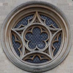 Round window. Cambridgeshire, UK.