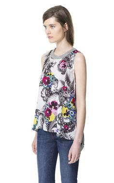 COMBINED PRINTED T-SHIRT from Zara