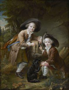 The Comte and Chevalier de Choiseul as Savoyards by François-Hubert Drouais,1758
