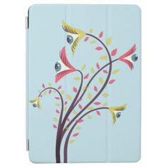 Weird Colorful Flowers With Staring Eyes iPad Air Cover - floral style flower flowers stylish diy personalize