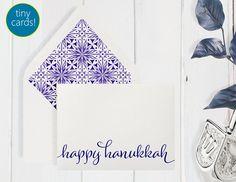 Boxed TINY/MINI Hanukkah Cards Crystal Accent by DenaMariaPapers