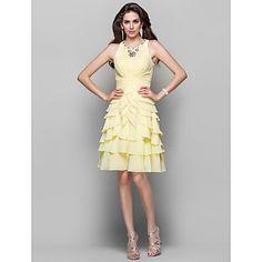 A-line+Princess+High+Neck+Short/Mini+Chiffon+Evening+Dress+(466579)+–+USD+$+149.99