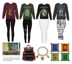 """""""Harry Potter. Sorry it's a bit crowded"""" by amyhnsn ❤ liked on Polyvore featuring Topshop"""
