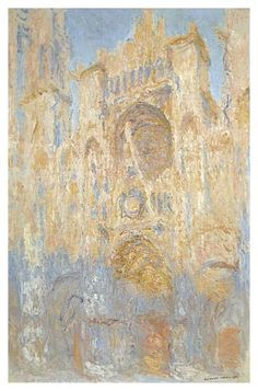 Rouen Cathedral in the Morning Fog (Claude Monet)
