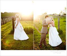 evening wedding portraits farm wedding