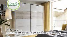 Star SRQSET01-N25 gardrób szekrény - Hálószoba bútorok - Online bútorbolt, bútor rendelés és webáruház