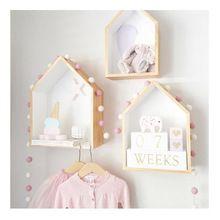 2 ks / Set dětský pokoj zdobí roztomilý zvyk dřevěný dům dělící Fashion Wood domečků pro panenky Dětský Děvčátka pokoj (Čína (pevninská část))