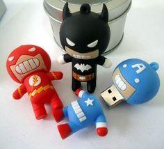 USB Drive Design - Flash Batman and Captain America. ❤️ DesignAndTech.net
