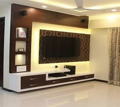 Modern TV wall units for living rooms - Wooden TV cabinets designs 2020 unit design With Wallpaper Tv Cabinet Design Modern, Tv Cupboard Design, Modern Tv Unit Designs, Living Room Tv Unit Designs, Living Room Sofa Design, Home Room Design, Tv Unit For Living Room, Tv Wall Unit Designs, Tv Wall Ideas Living Room