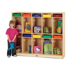 Jonti-Craft Take Home Center with Clear Paper-Trays - The Take Home Center features ten locker sections, each with a Paper-tray slot. Excellent for organizing messages and homework. Two double hooks in each locker are perfect for hanging book bags, jacke Preschool Furniture, Classroom Furniture, Preschool Cubbies, Daycare Cubbies, Preschool Rooms, Daycare Storage, Preschool Classroom Layout, Preschool Decor, Cubby Storage