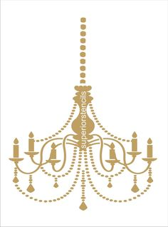 Cutting edge stencils chandelier stencilhttpwww chandelier with chain stencil available in 4 sizes wall stencils create mozeypictures Gallery