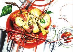 사과 유리컵 -미대입시